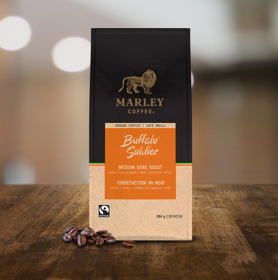 Marley Coffee: Buffalo Solider Coffee Blend Tabletop
